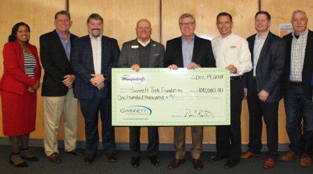 Gwinnett Technical College Receives $100,000 Gift from Mingledorff's