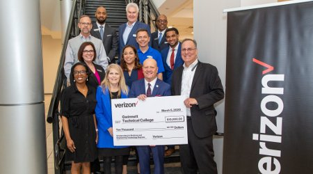 Gwinnett Tech Foundation Receives a $10,000 Grant from Verizon to Fund Scholarships