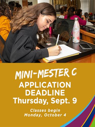 Mini Mester C application deadline is September 9